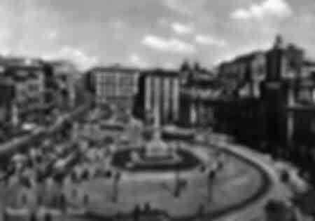 Piazza Dante - Naples - Italy - 1955