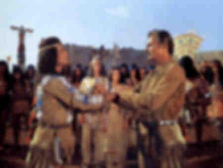 Pierre Brice und Lex Barker in Winnetou - 1