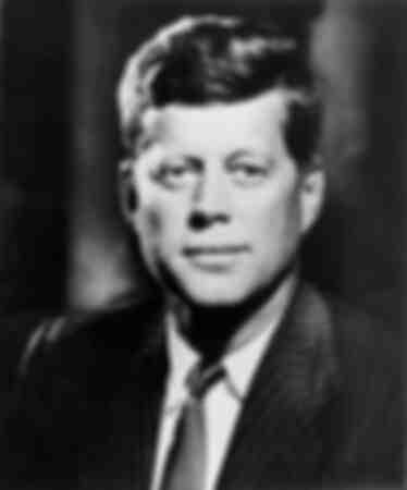 Porträtt av John Fitzgerald Kennedy 1961
