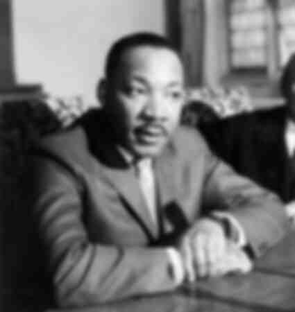 Pressekonferenz von Martin Luther King