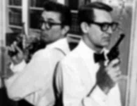 Robert Mitchum und Cary Grant