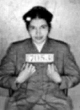 Rosa Louise McCauley Parks zum Zeitpunkt ihrer Festnahme