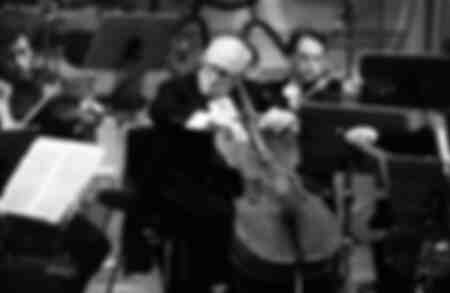 Slava Rostropovich playing the cello 1984