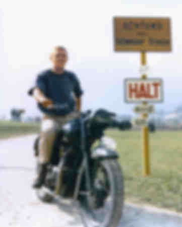 Steve McQueen on a 1962 Triumph T110