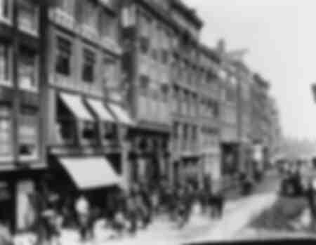 Straat in Amsterdam in 1900