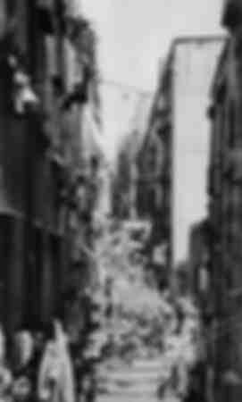 El Vicolo del Pallonetto en Nápoles - principios de 1900