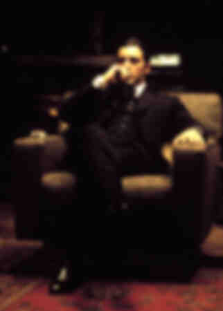 Shooting of the movie The Godfather with Al Pacino