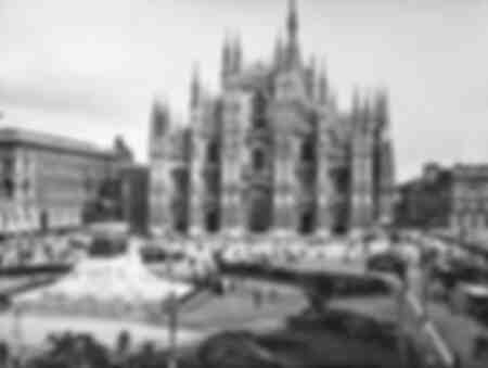 View of the façade of the Cathedral of Milan