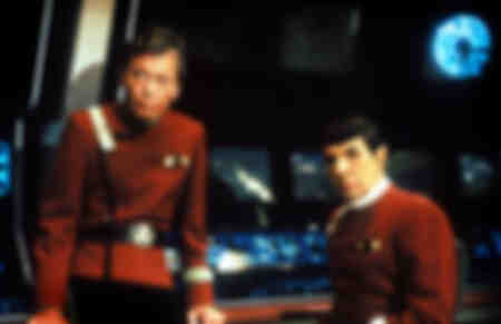 William Shatner with Leonard Nimoy aka Dr Spock - Star Trek 1989