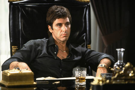 Al Pacino in the movie Scarface
