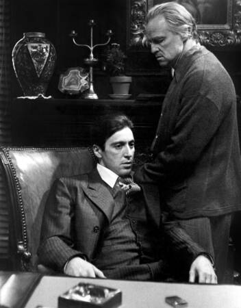 Al pacino och Marlon Brando i The Godfather