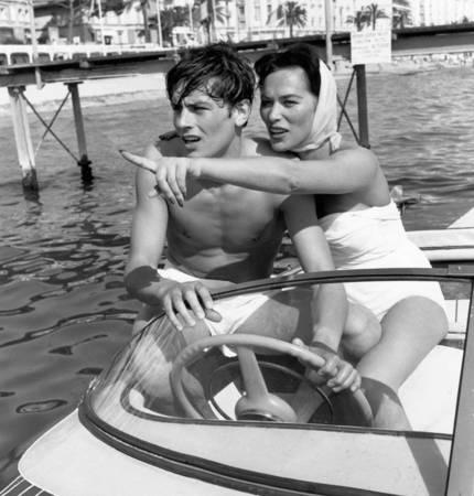 Alain Delon and Bella Darvi in 1958