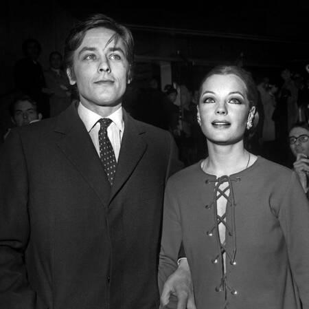 Alain Delon and Romy Schneider 1969