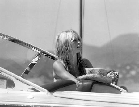 Brigitte Bardot an Bord der Dracula