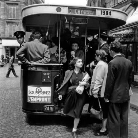 Bus per piattaforma nel 1952