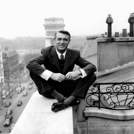 Cary Grant in Paris in 1956