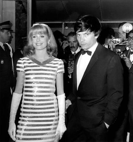 Catherine Deneuve et David Bailey au festival de Cannes