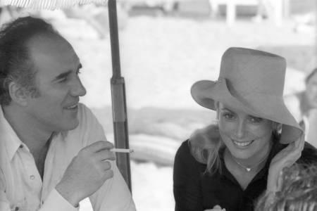 Catherine Deneuve et Michel Piccoli en tournage en 1968