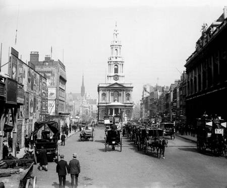 Downtown London in 1890