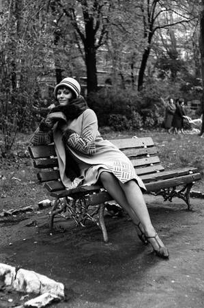 "Claudia Cardinale on the set of the film ""Careless"""