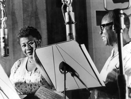 Ella Fitzgerald und Louis Armstrong New York 1950