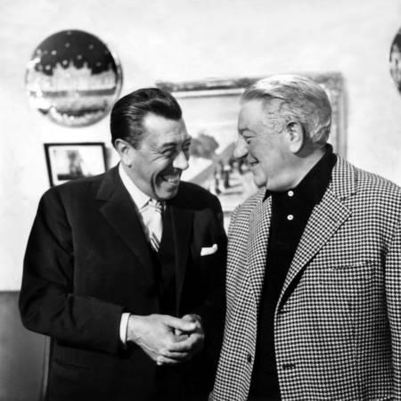 Fernandel et Jean Gabin en tournage en 1964