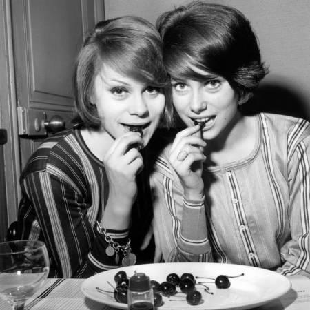 Françoise Dorleac and Catherine Deneuve in 1960