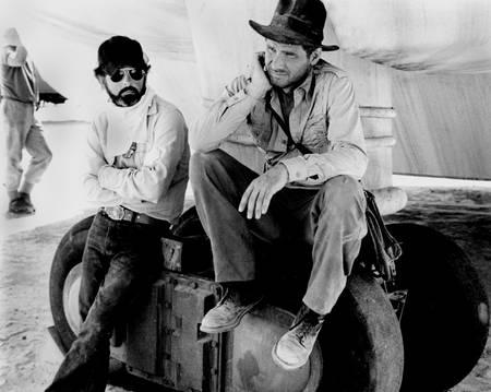 George Lucas et Harrison Ford