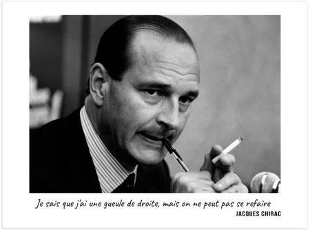 Jacques Chirac - Je sais que j'ai une gueule de droite, mais on ne peut pas se refaire