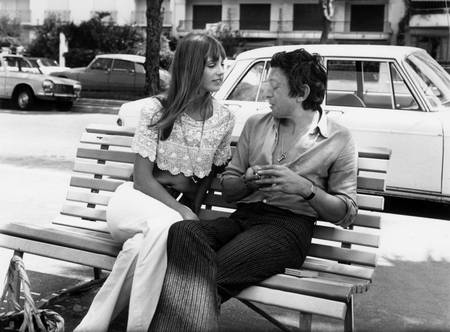 Jane Birkin und Serge Gainsbourg in Cannes