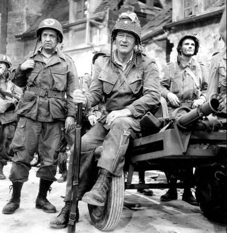 John Wayne - Tournage du film - Le Jour le plus long