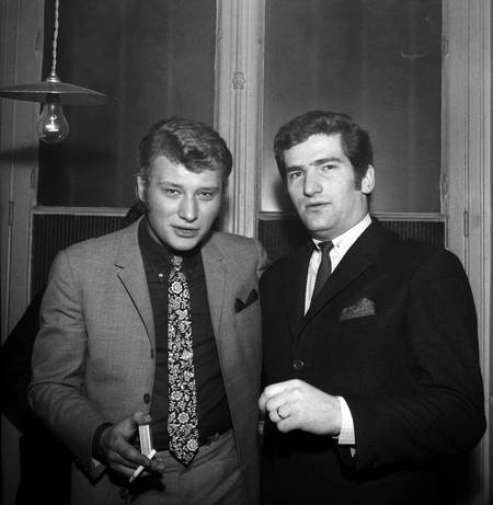 Johnny Hallyday et Eddy Mitchell en 1966