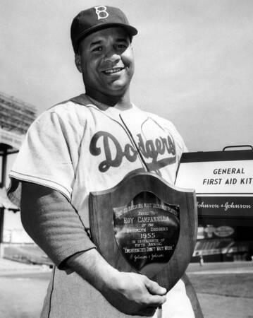 Brooklyn Dodgers player in 1955