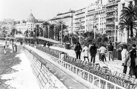 The snow on the Promenade des Anglais in 1983