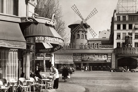The Moulin Rouge in 1954