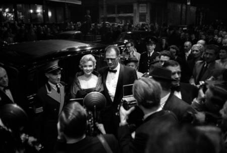 Marilyn Monroe und ihr Ehemann Arthur Miller