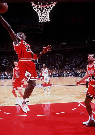 Michael Jordan in azione