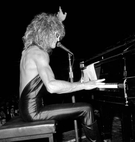 Michel Polnareff in concert at the Olympia in 1973