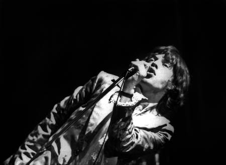 Mick Jagger in concert at the Olympia in 1967