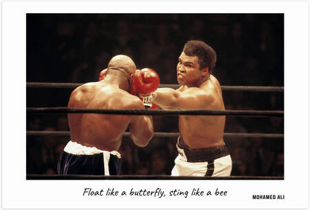 Mohamed Ali - Float like a butterfly, sting like a bee