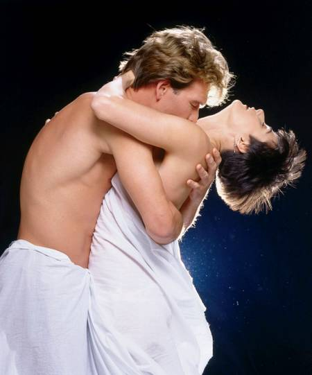 Patrick Swayze and Demi Moore in the movie Ghost
