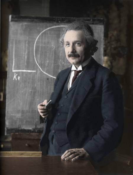 Portrait d'Albert Einstein