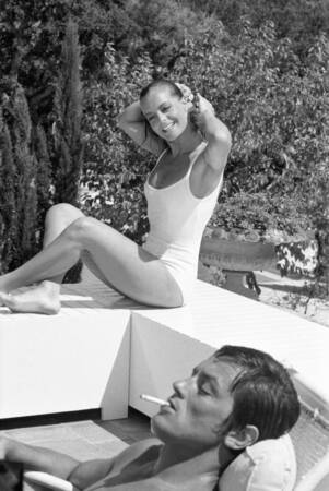 Romy Schneider And Alain Delon Movie Pool