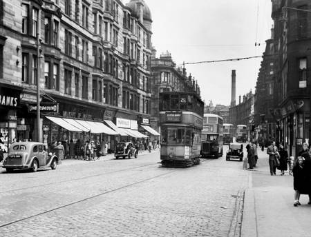 Scène de rue à Glasgow