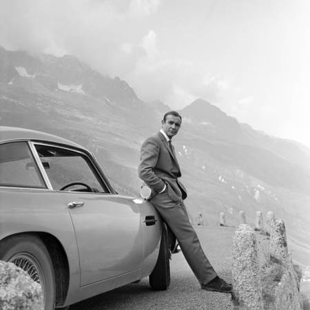 Sean Connery filming for Goldfinger