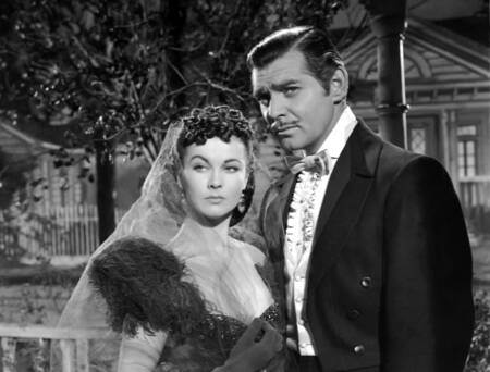 Vivien Leigh et Clark Gable en tournage