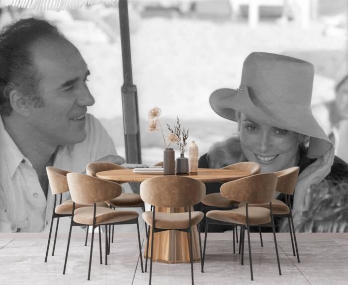 Catherine Deneuve and Michel Piccoli shooting in 1968