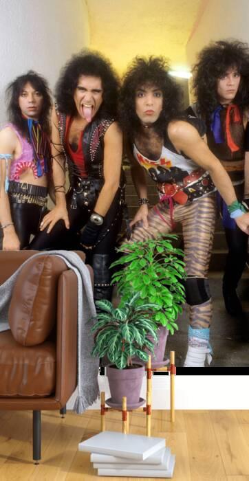 El grupo Kiss entre bastidores antes del concierto