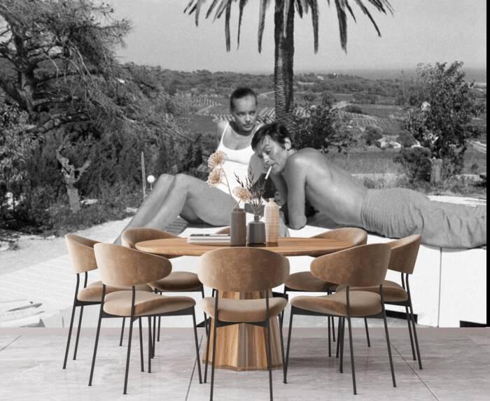 The lovers Romy Schneider and Alain Delon