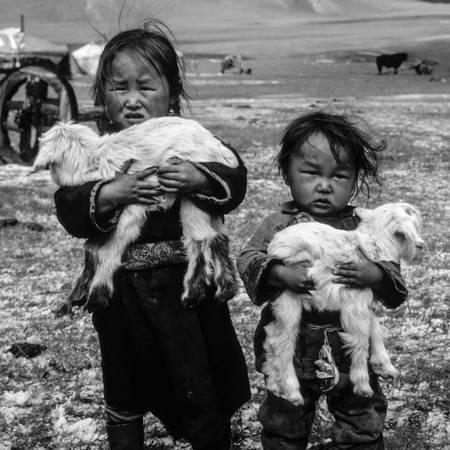 Barns får och isigt regn